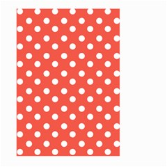 Indian Red Polka Dots Large Garden Flag (Two Sides)
