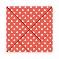 Indian Red Polka Dots Acrylic Tangram Puzzle (6  x 6 )