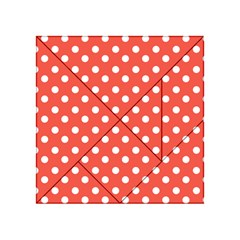 Indian Red Polka Dots Acrylic Tangram Puzzle (4  x 4 )