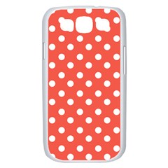 Indian Red Polka Dots Samsung Galaxy S III Case (White)