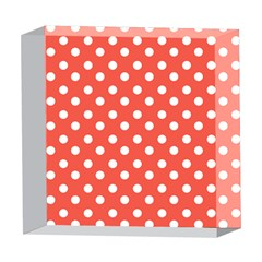 Indian Red Polka Dots 5  x 5  Acrylic Photo Blocks