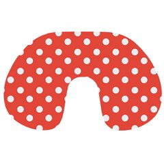 Indian Red Polka Dots Travel Neck Pillows