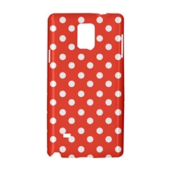 Indian Red Polka Dots Samsung Galaxy Note 4 Hardshell Case
