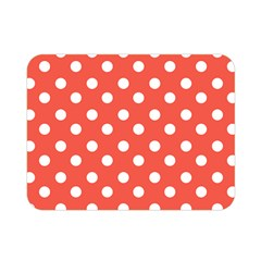 Indian Red Polka Dots Double Sided Flano Blanket (Mini)