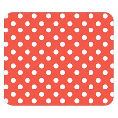 Indian Red Polka Dots Double Sided Flano Blanket (small)