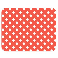 Indian Red Polka Dots Double Sided Flano Blanket (Medium)