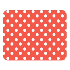 Indian Red Polka Dots Double Sided Flano Blanket (Large)