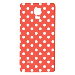 Indian Red Polka Dots Galaxy Note 4 Back Case