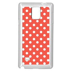 Indian Red Polka Dots Samsung Galaxy Note 4 Case (White)