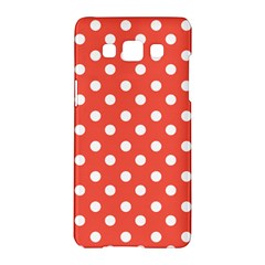 Indian Red Polka Dots Samsung Galaxy A5 Hardshell Case