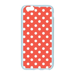Indian Red Polka Dots Apple Seamless iPhone 6 Case (Color)