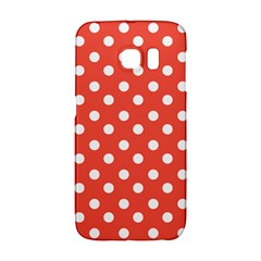 Indian Red Polka Dots Galaxy S6 Edge