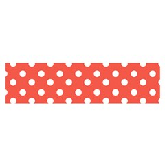 Indian Red Polka Dots Satin Scarf (Oblong)