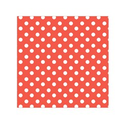 Indian Red Polka Dots Small Satin Scarf (square)