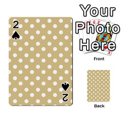 Mint Polka And White Polka Dots Playing Cards 54 Designs
