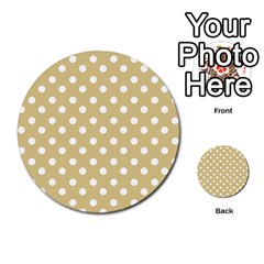 Mint Polka And White Polka Dots Multi-purpose Cards (Round)