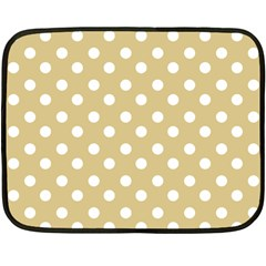 Mint Polka And White Polka Dots Fleece Blanket (mini)