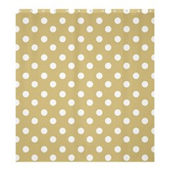 Mint Polka And White Polka Dots Shower Curtain 66  X 72  (large)