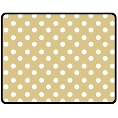 Mint Polka And White Polka Dots Fleece Blanket (Medium)