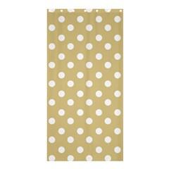 Mint Polka And White Polka Dots Shower Curtain 36  x 72  (Stall)