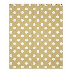 Mint Polka And White Polka Dots Shower Curtain 60  x 72  (Medium)