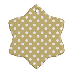 Mint Polka And White Polka Dots Snowflake Ornament (2-Side)