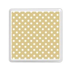 Mint Polka And White Polka Dots Memory Card Reader (Square)