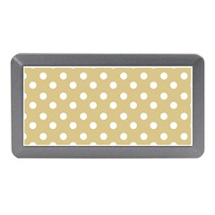 Mint Polka And White Polka Dots Memory Card Reader (Mini)