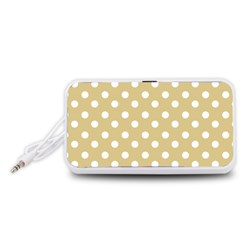 Mint Polka And White Polka Dots Portable Speaker (White)