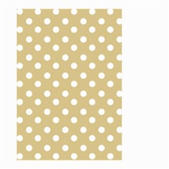Mint Polka And White Polka Dots Small Garden Flag (two Sides)