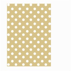 Mint Polka And White Polka Dots Large Garden Flag (two Sides)