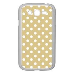 Mint Polka And White Polka Dots Samsung Galaxy Grand Duos I9082 Case (white)