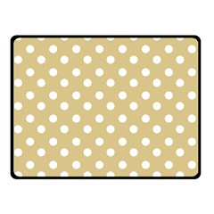 Mint Polka And White Polka Dots Double Sided Fleece Blanket (Small)