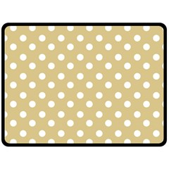 Mint Polka And White Polka Dots Double Sided Fleece Blanket (large)
