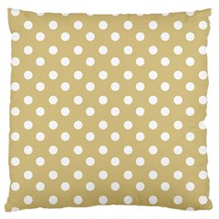 Mint Polka And White Polka Dots Large Flano Cushion Cases (two Sides)