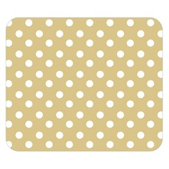 Mint Polka And White Polka Dots Double Sided Flano Blanket (small)