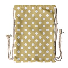 Mint Polka And White Polka Dots Drawstring Bag (large)