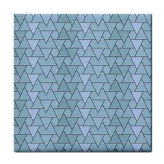 Geo Fun 7 Light Blue Tile Coasters