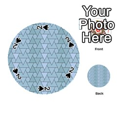 Geo Fun 7 Light Blue Playing Cards 54 (Round)