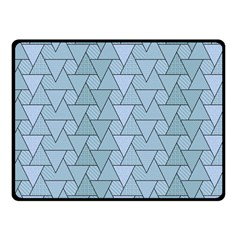 Geo Fun 7 Light Blue Fleece Blanket (small)