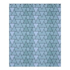 Geo Fun 7 Light Blue Shower Curtain 60  X 72  (medium)