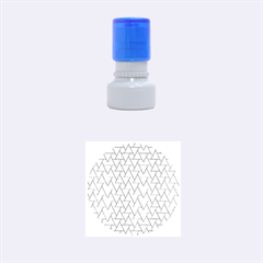 Geo Fun 7 Light Blue Rubber Round Stamps (small)