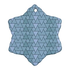 Geo Fun 7 Light Blue Snowflake Ornament (2-Side)