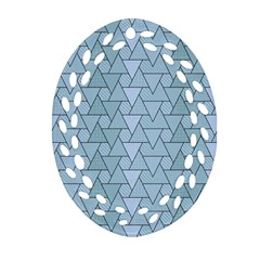Geo Fun 7 Light Blue Ornament (Oval Filigree)