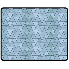 Geo Fun 7 Light Blue Double Sided Fleece Blanket (Medium)