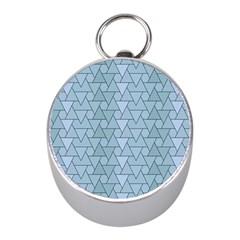 Geo Fun 7 Light Blue Mini Silver Compasses