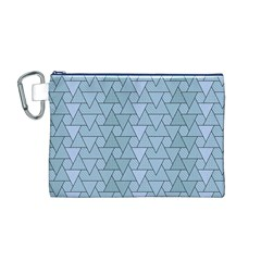 Geo Fun 7 Light Blue Canvas Cosmetic Bag (M)