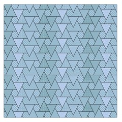 Geo Fun 7 Light Blue Large Satin Scarf (square)