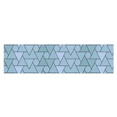 Geo Fun 7 Light Blue Satin Scarf (Oblong)