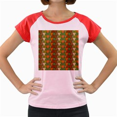 Geo Fun 7 Warm Autumn  Women s Cap Sleeve T Shirt